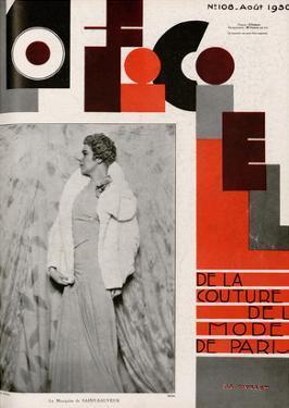 L'Officiel, August 1930 - La Marquise de Saint-Sauveur by Madame D'Ora & A.P. Covillot