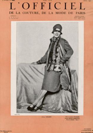 L'Officiel, April 1927 - Jenny Colder