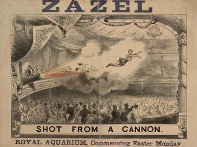 Madame Zazel Shot From a Cannon