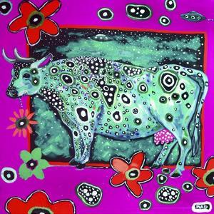 322 - Cosmic Green Cow by MADdogART