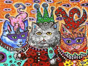 Mad Cat Mardi Gras by MADdogART