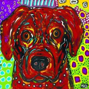 Mad Red Dog by MADdogART