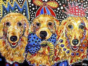 Three Goldens by MADdogART