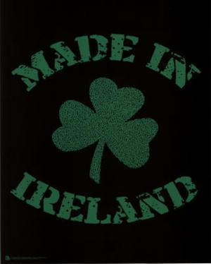 Made in Ireland (Lyrics to Danny Boy) Art Poster Print