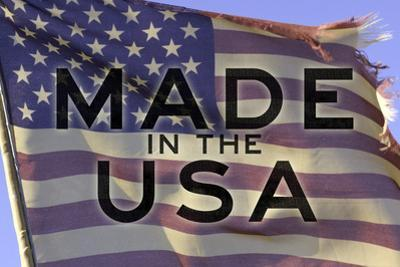 Made In The USA American Flag Motivational Plastic Sign