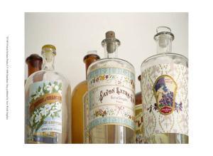 French Perfume Bottles I by Madelaine Gray
