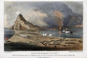 Twelfth Regiment of Foot, the North Part of Gibraltar, 13th and 14th September 1782 by Madeley