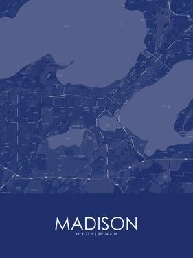 Madison, United States of America Blue Map