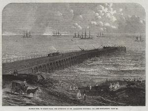 Madras Pier, on Screw-Piles, the Invention of Mr Alexander Mitchell, Ce