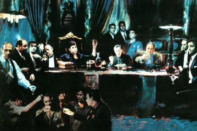 Mafia Gansters Collage Art Plastic Sign