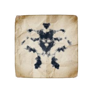 An Image Of An Old Paper With Rorschach Graphic by magann