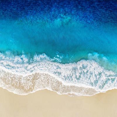 Aqua Ocean Waves I by Maggie Olsen