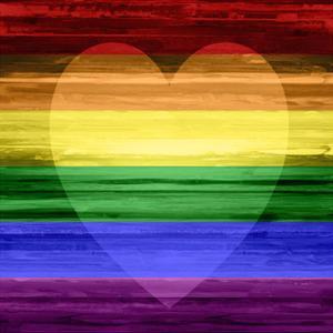 Rainbow Heart by Maggie Olsen