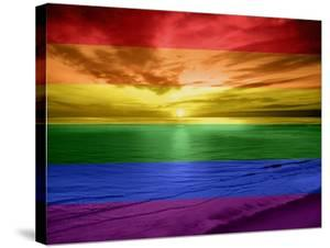 Rainbow Sunset by Maggie Olsen