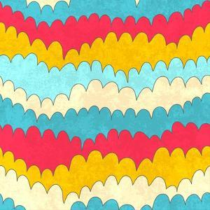 Seamless Abstract Color Wave Pattern. Vector Illustration by Magnia