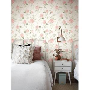 Magnolia Home Watercolor Roses Removable Wallpaper by Magnolia Home