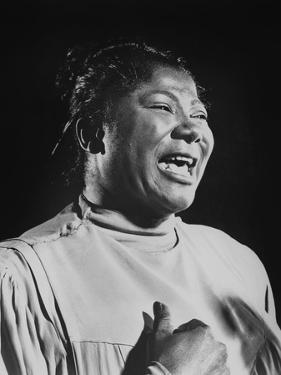 Mahalia Jackson (1911-1972) American Singer of Gospel Et Negro Spirituals, C. 1960
