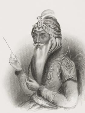 Maharaja Ranjit Singh, from 'Gallery of Historical Portraits', Published C.1880