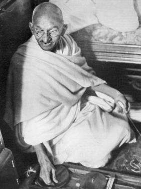 Mahatma Gandhi Indian Nationalist and Spiritual Leader Sailing from Boulogne to Folkestone