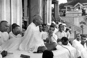Mahatma Mohandas Karamchand Gandhi (1869-1948) Indian Politician and Nationalist Leader