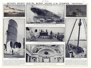Maiden Voyage of the Cunard Liner Aquitania, 1914