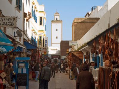 Main market street in Essaouira, Morocco