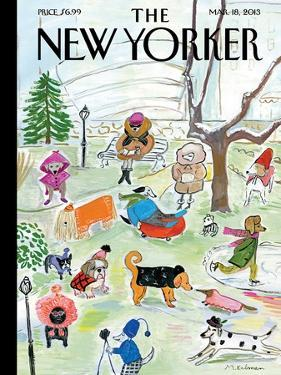 The New Yorker Cover - March 18, 2013 by Maira Kalman