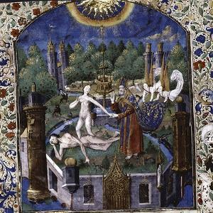The Creation of Eve from the Body of the Sleeping Adam, 1450-1475 by Maître François