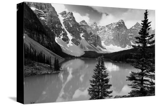 Majestic Moraine Lake, Alberta--Stretched Canvas Print