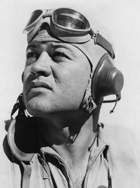 Major Gregory 'Pappy' Boyington, Commanding Officer of the Famous Marine Fighter Squadron, 1944
