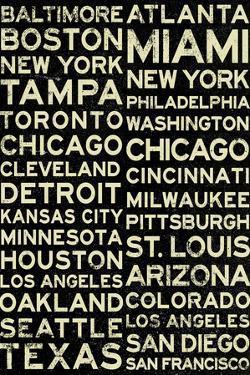 Major League Baseball Cities Vintage Style Plastic Sign