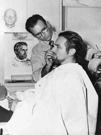 Makeup Artist Ben Nye Working on Actor Douglas Fairbanks, Jr