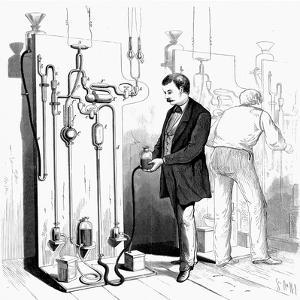 Making Edison Light Bulbs, 1880