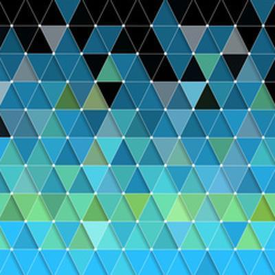 Blue Triangles Pattern by Maksim Krasnov