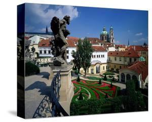 Mala strana Baroque garden, Prague, Central Bohemia, Czech Republic