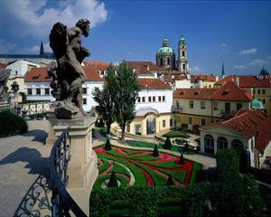 Mala strana Baroque garden, Prague, Central Bohemia, Czech Republic