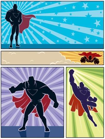 Superhero Banners by Malchev