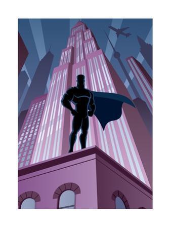 Superhero in City by Malchev