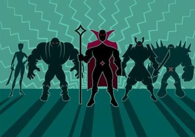 Supervillain Team by Malchev