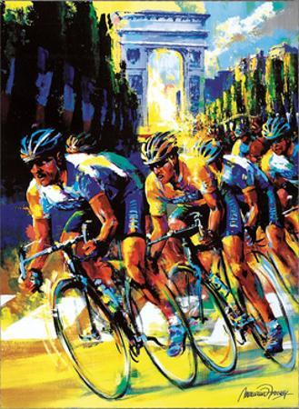 Victory on the Champs Élysées by Malcolm Farley