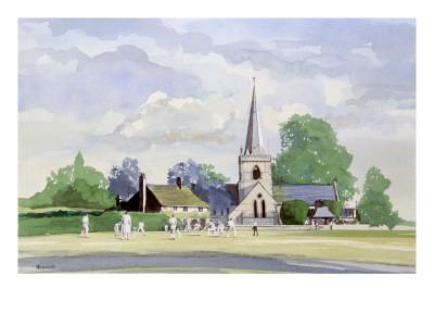 Cricket in an English Village