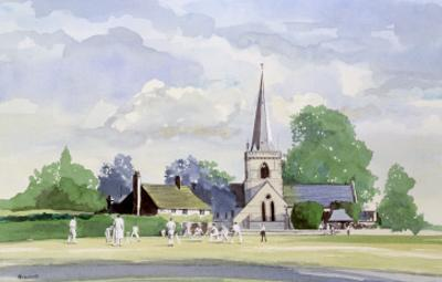 Cricket in an English Village by Malcolm Greensmith