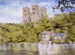 Durham Cathedral from the River Wear by Malcolm Greensmith