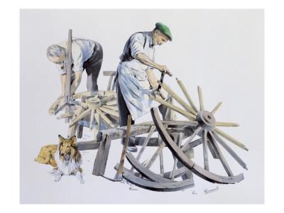 Wheelwrights Making Cart Wheels