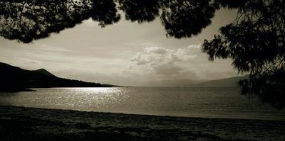 Greek Beach by Malcolm Sanders