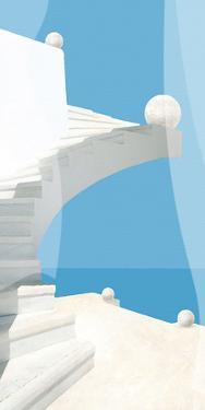 Greek Stairway by Malcolm Sanders