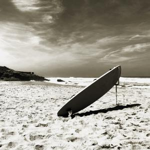 Propped Surfboard by Malcolm Sanders