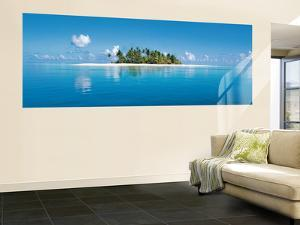 Maldive Island Panoramic Wall Mural