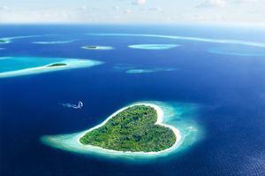Maldivian Heart Shape Island
