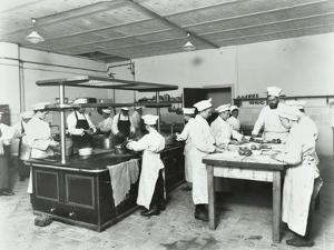 Male Cookery Students, Westminster Technical Institute, London, 1910